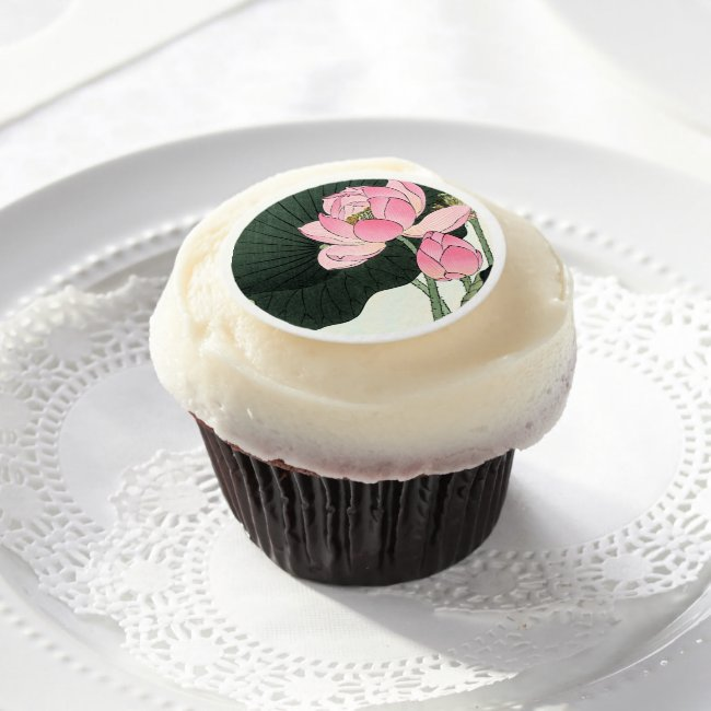 JAPANESE LOTUS FLOWER - Edible Frosting Sheets