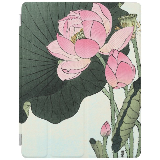 JAPANESE LOTUS FLOWER iPad Cover