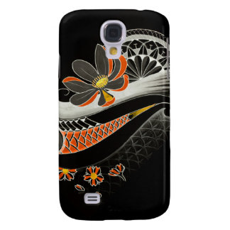 Japanese Lotus flower with cherry blossoms Samsung Galaxy S4 Cases