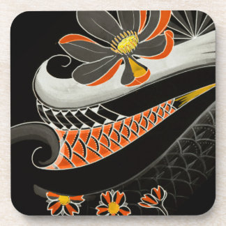 Japanese Lotus flower with cherry blossoms Coaster