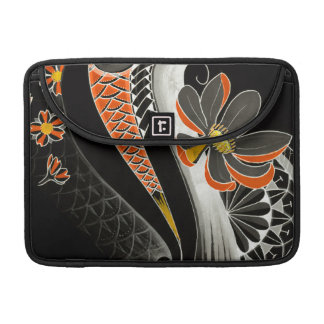Japanese Lotus flower with cherry blossoms Sleeves For MacBook Pro