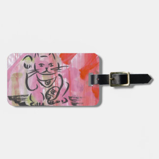 Japanese Lucky Cat Art Luggage Tags