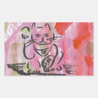 Japanese Lucky Cat Art Stickers