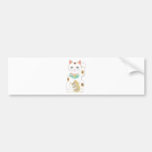 Japanese Lucky Cat Bumper Sticker