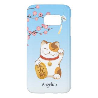 Japanese Lucky Cat, Calico Maneki Neko Samsung Galaxy S7 Case