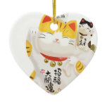 Japanese Lucky Cat Christmas Tree Ornament