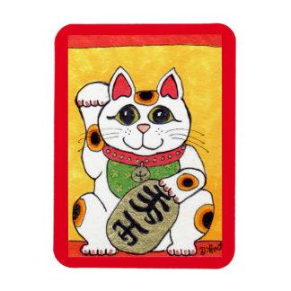 Japanese Lucky Cat Maneki Neko Fridge Art Magnet