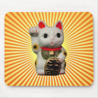 Japanese Lucky Cat MANEKI NEKO mouse pad rays