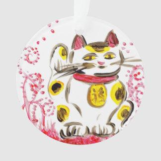 Japanese Lucky Cat Maneki Neko Ornament