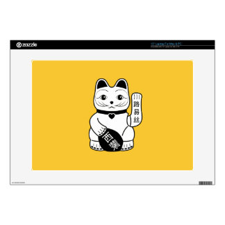 Japanese Lucky Cat Pictogram Latop Skin Laptop Decal