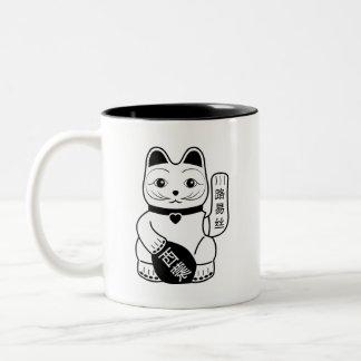 Japanese Lucky Cat Pictogram Mug