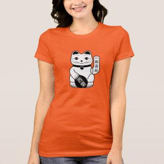 Japanese Lucky Cat Pictogram T-Shirt