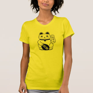 Japanese Lucky Cat Pictogram T-Shirt