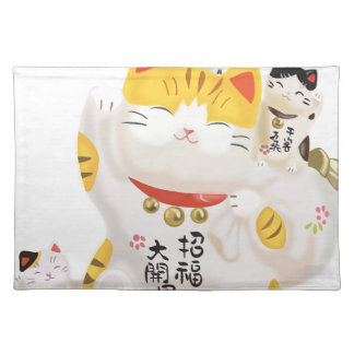 Japanese Lucky Cat Placemat
