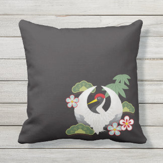 Japanese Lucky Symbols Cool Elegant Outdoor Pillow