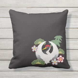 Japanese Lucky Symbols Cool Elegant Throw Pillow