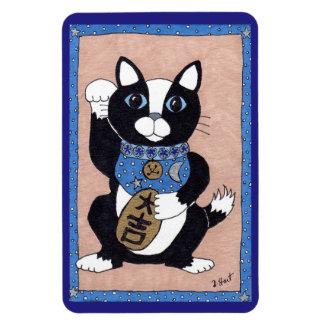 Japanese Lucky Tuxedo Cat Maneki Neko Fridge Art Magnet
