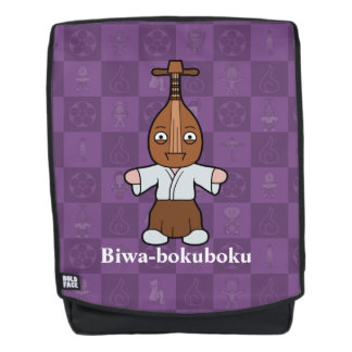 Japanese Lute Man Biwa-bokuboku: Cartoon Yokai Backpack