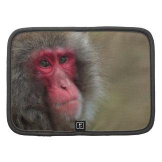 Japanese Macaque Monkey Rickshaw Folio Organizer