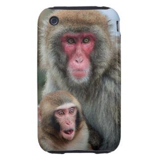 Japanese Macaque Monkeys iPhone 3G/3GS Tough Case