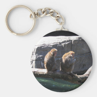 Japanese Macaque Monkeys Keychain