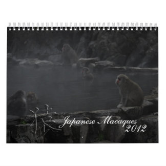 Japanese Macaques Calendar