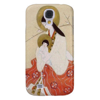 Japanese Madonna and Child Vintage Galaxy S4 Cases