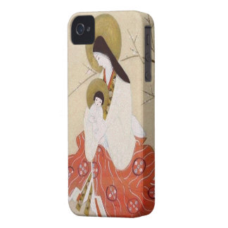 Japanese Madonna and Child Vintage iPhone 4 Case-Mate Case