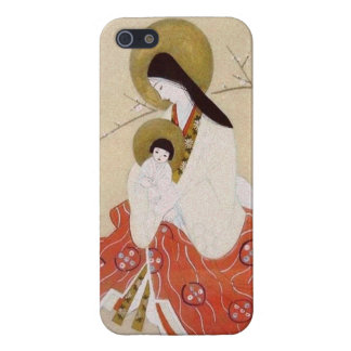 Japanese Madonna and Child Vintage iPhone 5 Cover