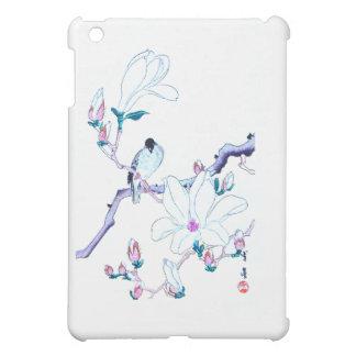 Japanese Magnolia and Bird Print iPad Mini Case