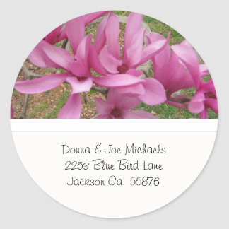 Japanese Magnolia Blossoms Address Stickers