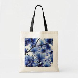 Japanese Magnolia Blue Floral Bag