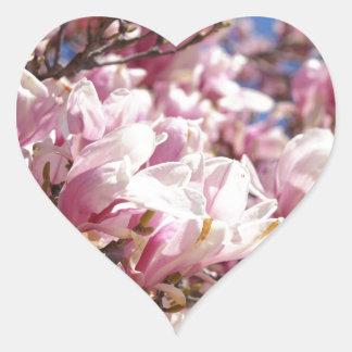 Japanese Magnolia Heart Sticker