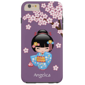 Japanese Maiko Kokeshi Doll Tough iPhone 6 Plus Case
