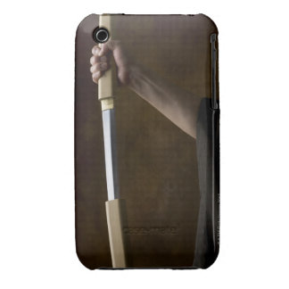 Japanese man holding sword 2 iPhone 3 Case-Mate cases