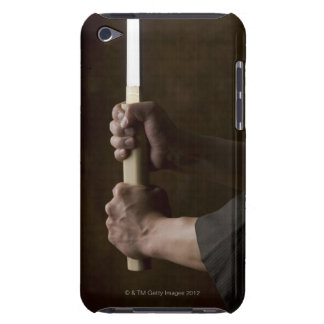 Japanese man holding sword barely there iPod cover