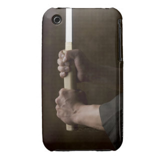 Japanese man holding sword iPhone 3 cases