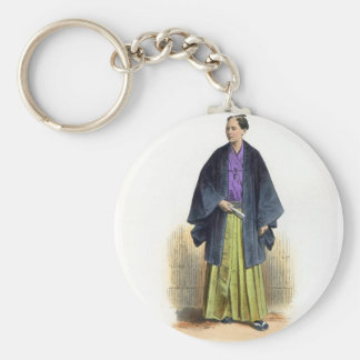 Japanese Man in Traditional Costume Keychain