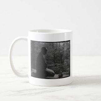 Japanese Man Kneeling in Quiet Contemplation Coffee Mug