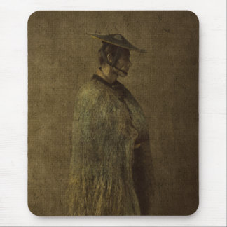Japanese Man Winter 1866 Photograph Enhanced Mouse Pad