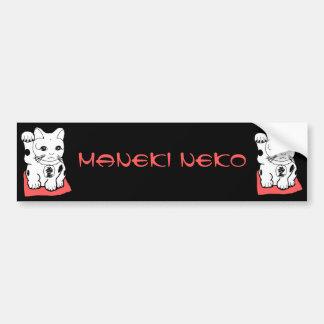 Japanese Maneki Neko Lucky Cat Bumper Sticker