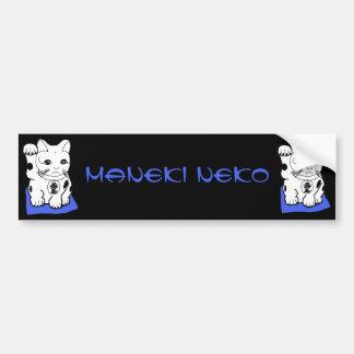 Japanese Maneki Neko (Lucky Cat) Bumper Sticker Car Bumper Sticker