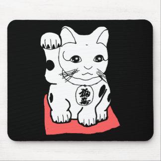 Japanese Maneki Neko (Lucky Cat) Mouse Pad