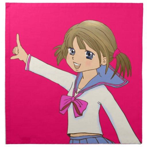 Japanese MANGA high-school girl Napkin