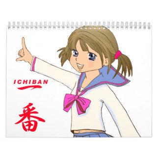 Japanese manga photo calendar