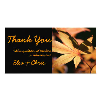 Japanese Maple (3)- Thank you card - Autumn Colors Photo Card