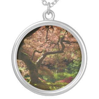 Japanese Maple Acer Palmatum Portland Garden Silver Plated Necklace