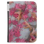 Japanese maple and Oak leaves Kindle Folio Cases