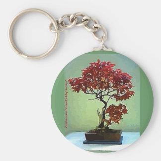 Japanese Maple Basic Round Button Keychain
