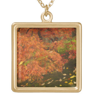 Japanese maple in fall color 2 pendants